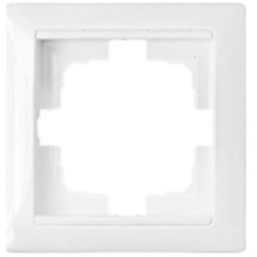 Universal Rahmen 1-fach Premium serie STILE Weiß,Bylectrica,735212.206-00, 4810158011171