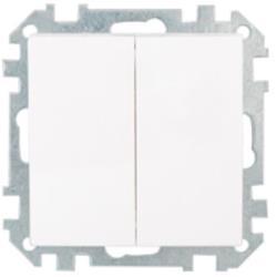 Serienschalter Unterputz (Ohne Rahmen) 10A Premium serie STILE Weiß