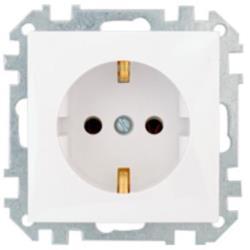 Schuko Steckdose Unterputz (Ohne Rahmen) 16A Premium serie STILE Weiß