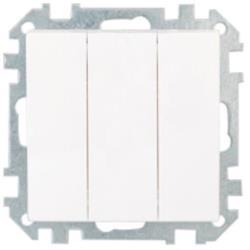 Dreifach Lichtschalter (Ohne Rahmen) Unterputz 10A Premium serie STILE Weiß ,Bylectrica,C0510-529-00, 4810158011010