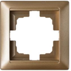 Universal Rahmen 1-fach Premium serie STILE Bronze