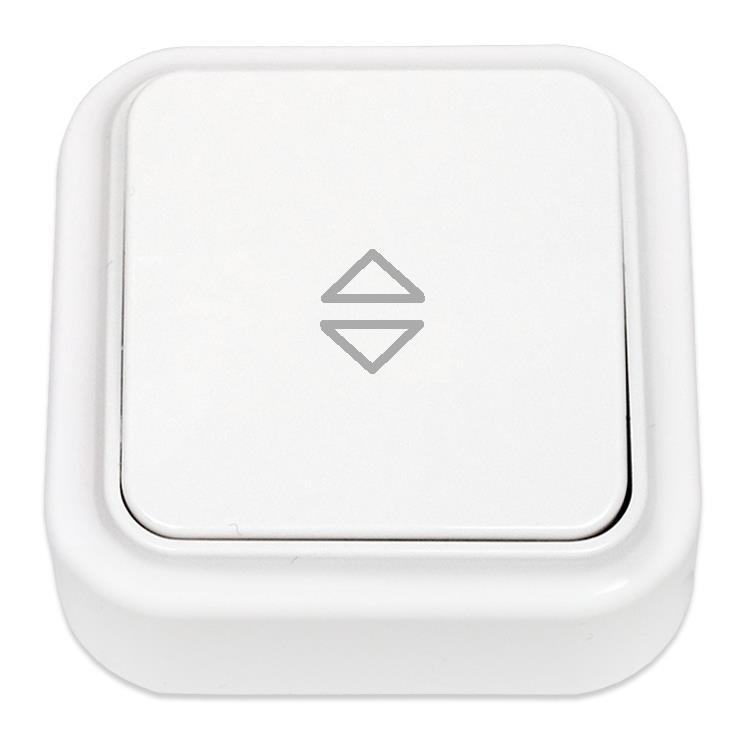 Wechselschalter Aufputz Lichtschalter, IP20 farbe weiß, serie Praleska,Bylectrica,A610-147, 4810158001301