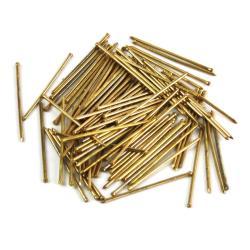 100 Dekonägel 1,4x25mm Ziernägel Messing Nägel Deko Zier Nagel