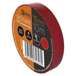 10 Rollen Rot Elektriker Klebeband PVC Isolierband Isoband - 15mm x 10m