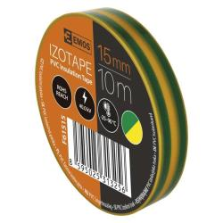 10 Rollen  Gelb/Grün Elektriker Klebeband PVC Isolierband Isoband - 15mm x 10m