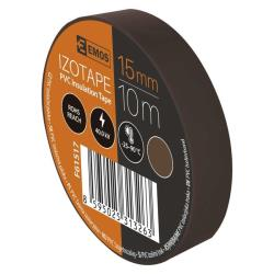 10 Rollen Braun Elektriker Klebeband PVC Isolierband Isoband - 15mm x 10m,EMOS,F61517, 0685293811436