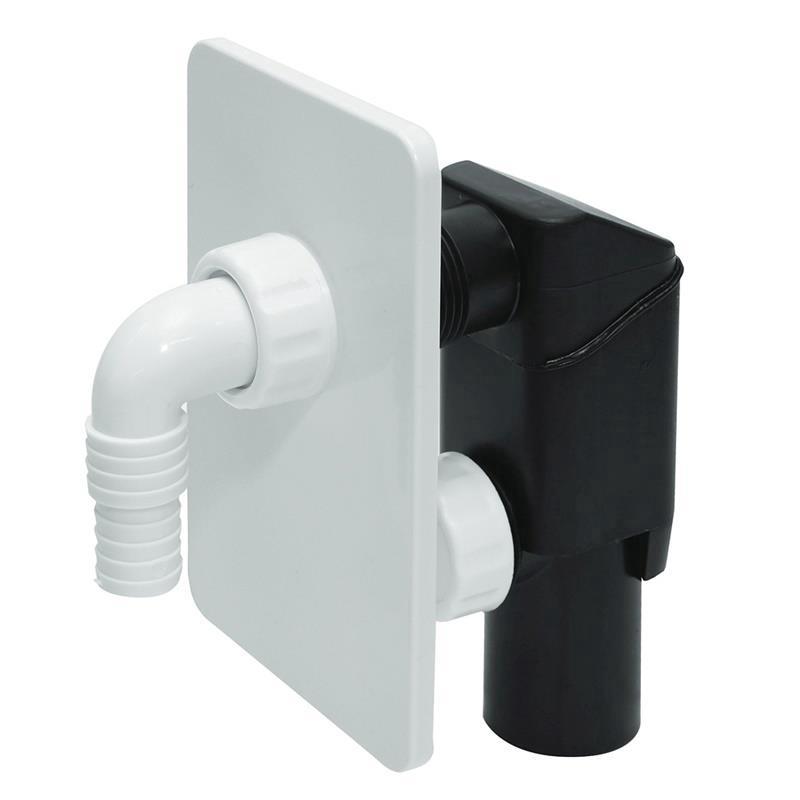 Unterputz Siphon weiß Geschirrspüler UP Sifon Waschmaschine Geruchsverschluss,Tycner,000051195033, 5900950615192