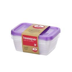 keeeper 3 Stck. Frischhaltedosen 1,25l Vorratsbehälter Vorratsdosen ,keeeper ,000051351891, 4052396023176