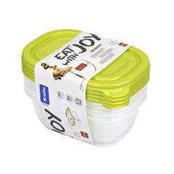 rotho 4 Stck. Frischhaltedosen 0,5l Vorratsbehälter Vorratsdosen