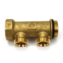 "Messing Universal Verteiler 2-Fach Sanitär 1"" x 3/4"" EK Wasser Heizung O-Ring,Poletti,C30212TOR, 0685293815892"