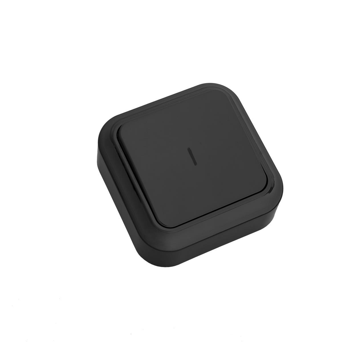 Lichtschalter Aufputz Beleuchtet, IP20 farbe schwarz, serie Praleska,Bylectrica,A110-214-B, 4810158068120