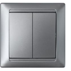 Serienschalter Unterputz Lichtschalter 10A Premium serie STILE Silber