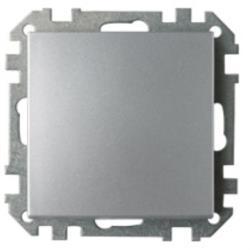Lichtschalter Unterputz Ein/Aus  (Ohne Rahmen) 10A Premium serie STILE Silber