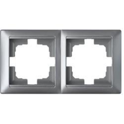 Universal Rahmen 2-fach Premium serie STILE Silber