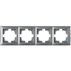 Universal Rahmen 4-fach Premium serie STILE Silber