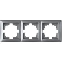 Universal Rahmen 3-fach Premium serie STILE Silber