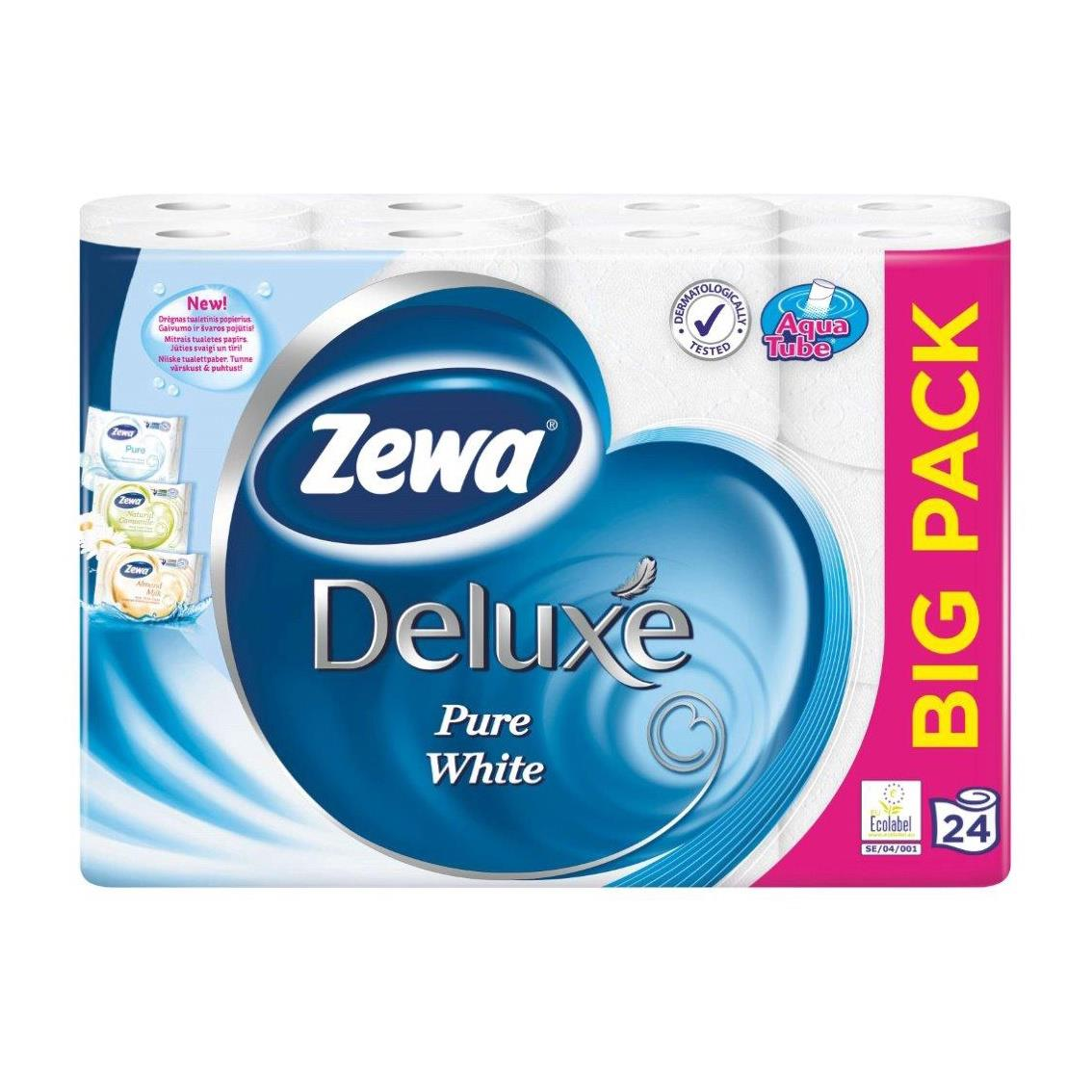 Toilettenpapier 24 Rollen 3 Lagig 145 Blatt Toilette Papier BigPack Zewa Deluxe,Zewa,000051345244, 7322540698527