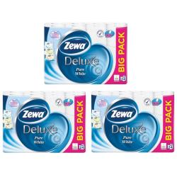 Toilettenpapier 72 Rollen 3 Lagig 145 Blatt Toilette Papier BigPack Zewa Deluxe