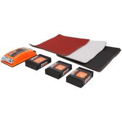 24 tlg Schleifset Schleifschwamm Schleifklotz Schleifpapier 80 - 600 Körnung,fast,7292, 5907078972923