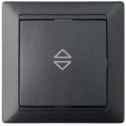 Wechselschalter Unterputz Lichtschalter 10A Premium serie STILE Schwarz,Bylectrica,C610-807, 4810158065754