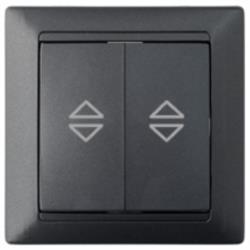 Wechselschalter/Serienschalter Unterputz 10A Premium serie STILE Schwarz,Bylectrica,C(6+6)10-847, 4810158065907