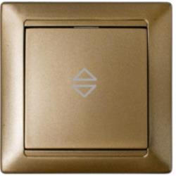 Wechselschalter Unterputz Lichtschalter 10A Premium serie STILE Bronze,Bylectrica,C610-807, 4810158031926