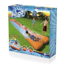 Bestway H2OGO Doppel Wasserrutsche 549 cm lang Rutsche Wasserbahn Gartenrutsche