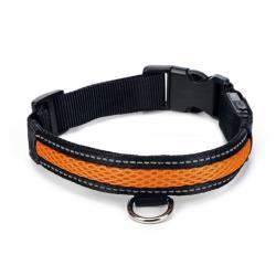 Hunde Halsband Sicherheitshalsband LED Leuchthalsband mit USB Anschluss