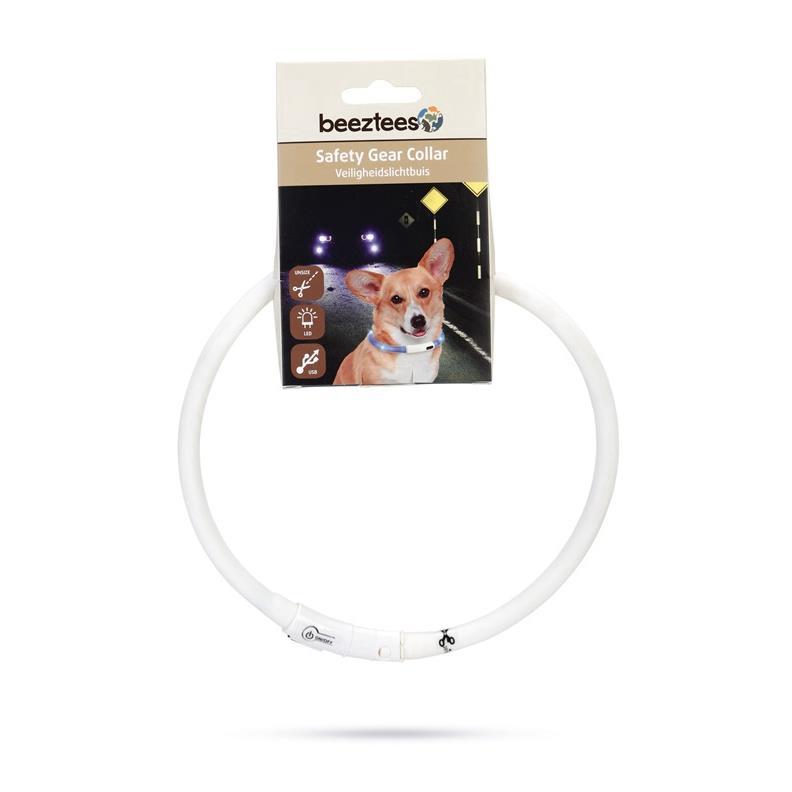 Hunde Halsband 70 cm Sicherheitshalsband LED Leuchthalsband mit USB Anschluss,Beeztees,0749854, 8712695147886