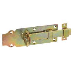 Schlossriegel mit Schlaufe und flachem Griff 160x56mm gelb verzinkt, GAH 116781