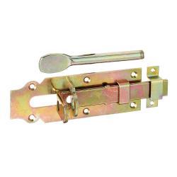 Stalltür-Schlossriegel mit Schlaufe und flachem Griff 160x56mm, GAH 117184