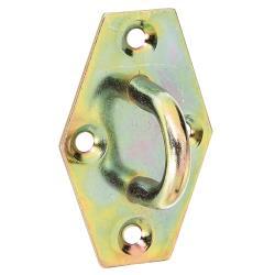 Öse auf Platte 64x41mm gelb verzinkt, GAH 316471,GAH Alberts,316471, 4004338316471
