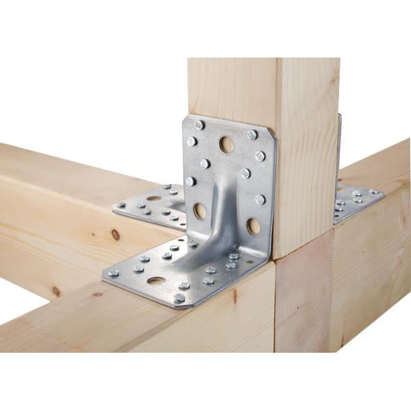 12x Schwerlast-Winkelverbinder mit Sicke 90x90x65mm verzinkt, GAH 330514,GAH Alberts,330514, 4004338330514