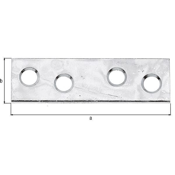12x Flachverbinder 50x14mm gelb verzinkt, GAH 336417,GAH Alberts,336417, 4004338336417