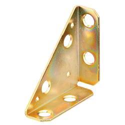 Eckplatte 50x50x70mm gelb verzinkt, GAH 337254,GAH Alberts,337254, 4004338337254