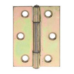 Scharnier halbbreit 51x37x1mm gelb verzinkt, GAH 345884,GAH Alberts,345884, 4004338345884