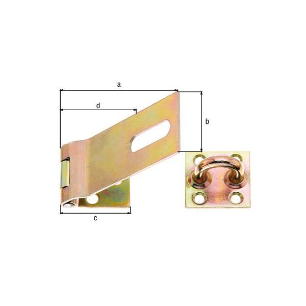 Sicherheits-Überfalle 153x50mm gelb verzinkt, GAH 348373,GAH Alberts,348373, 4004338348373