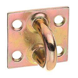 Öse auf Platte 37x37mm gelb verzinkt, GAH 348502,GAH Alberts,348502, 4004338348502