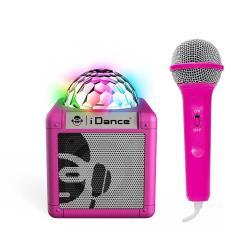 Karaokeanlage Lautsprecher Akku Mikrofon Bluetooth Disco-Licht AUX iDance Sing