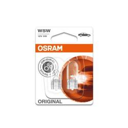 2 Osram Glassockellampen W5W 12 V 5W W2.1x9.5d Autolampe Standlicht KFZ Lampe
