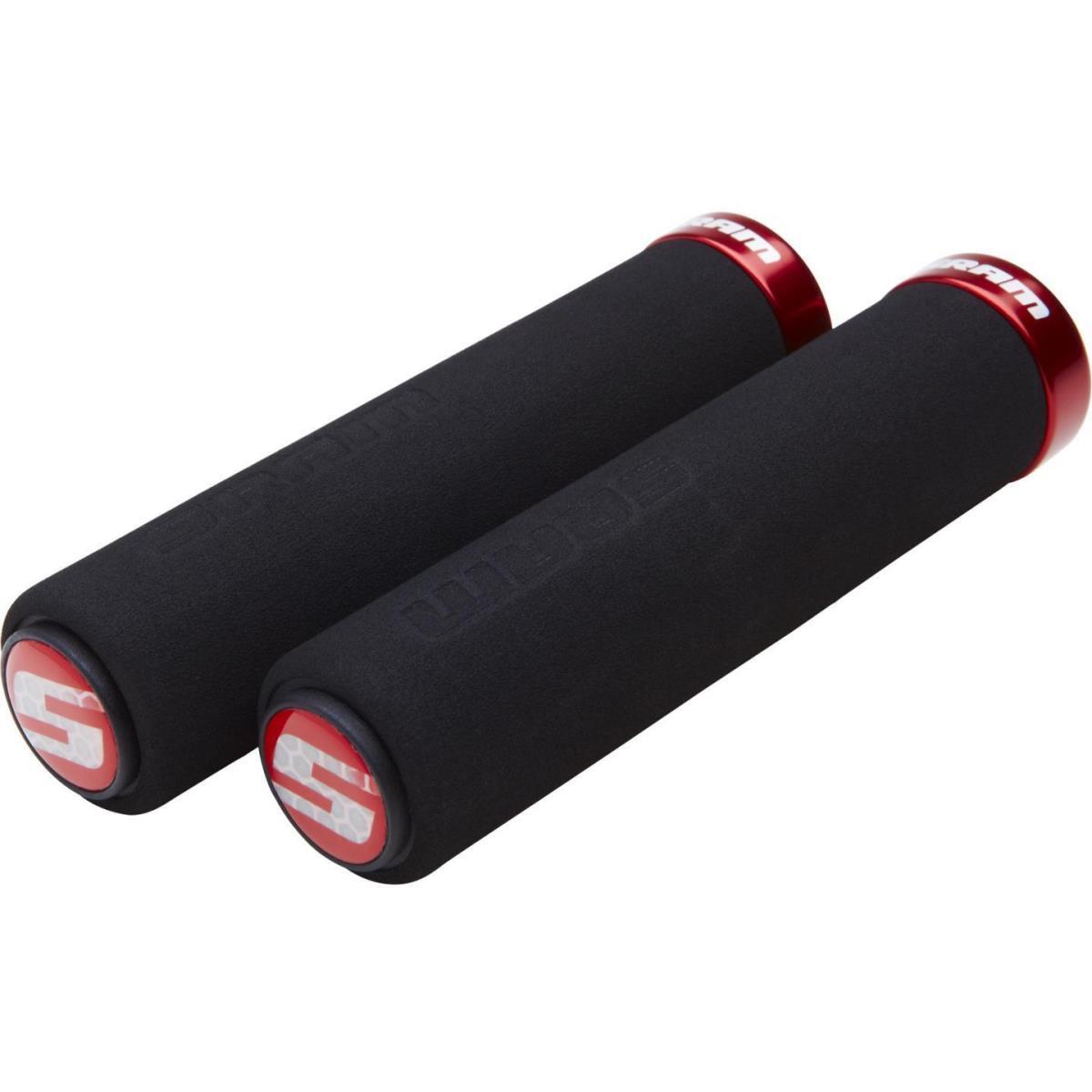 SRAM Lockring Griffe Schaumstoff Grips schwarz 129mm Klemme rot Gerades Profil,SRAM,00.7915.068.020, 710845666933