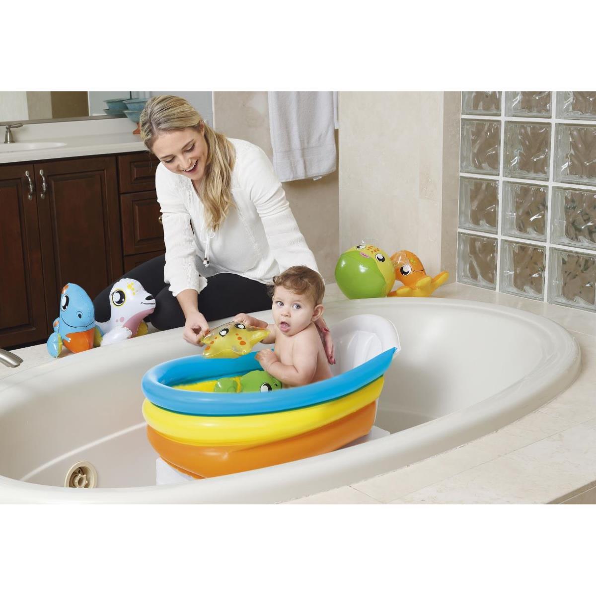 Babywanne Babyplanschbecken Baby Kleinkind Badewanne 76x48x33cm mit Thermometer,Bestway,51134, 6942138951424