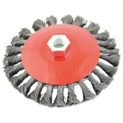 Stahl Kegelbürste gezopft mit Gewinde M14 Ø 100 mm  Drahtbürste Stahldrahtbürste,fast,3530, 5907078935300