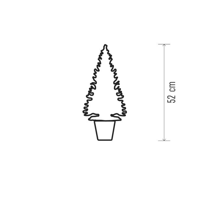 LED Weihnachtsbaum 52 cm Tannenbaum Christbaum Künstlicher Baum Tanne,Emos,ZY2245, 8592920079560