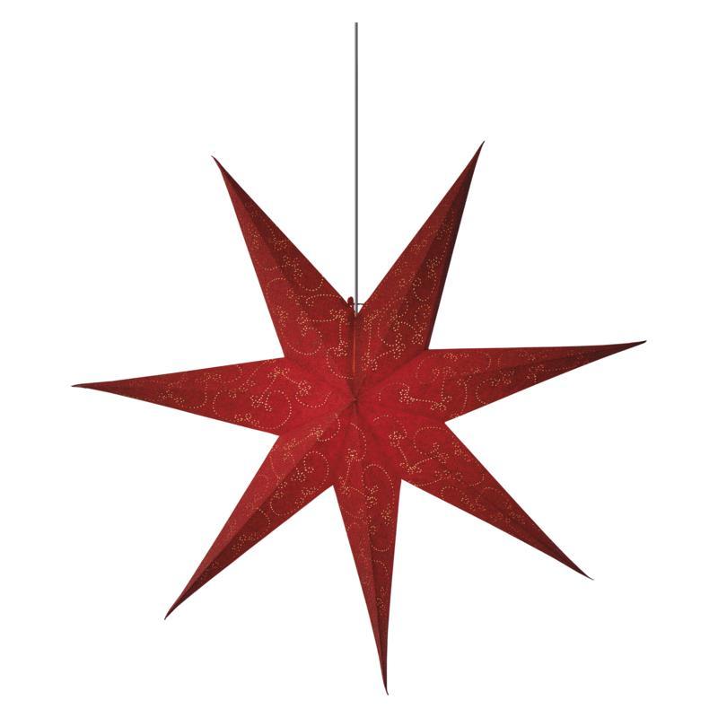 Weihnachtsstern 75 cm Papierstern Leuchtstern Dekostern Rot Stern für innen E14,Emos,ZY2249, 8592920079119
