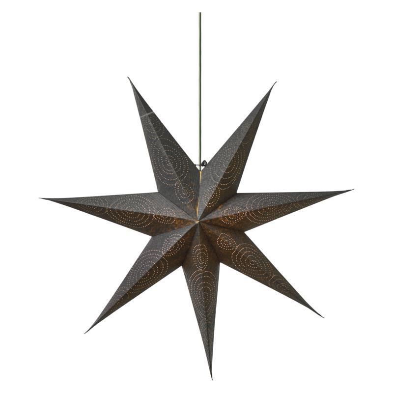 Weihnachtsstern 75cm Papierstern Leuchtstern Dekostern Silbern Stern für innen,Emos,ZY2248, 8592920079096