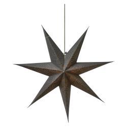Weihnachtsstern 75cm Papierstern Leuchtstern Dekostern Silbern Stern für innen