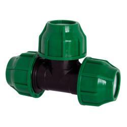 PP Rohr Verschraubung Grün PN10 Klemmfitting, T-Stück 16 x 16 x 16