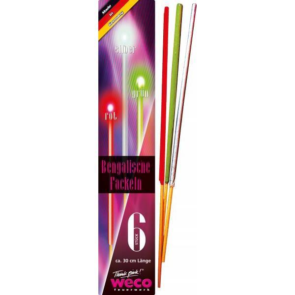 WECO 18 Bengalische Fackeln 30 cm 3 versch Farben,WECO,4001076063407, 0685293808948