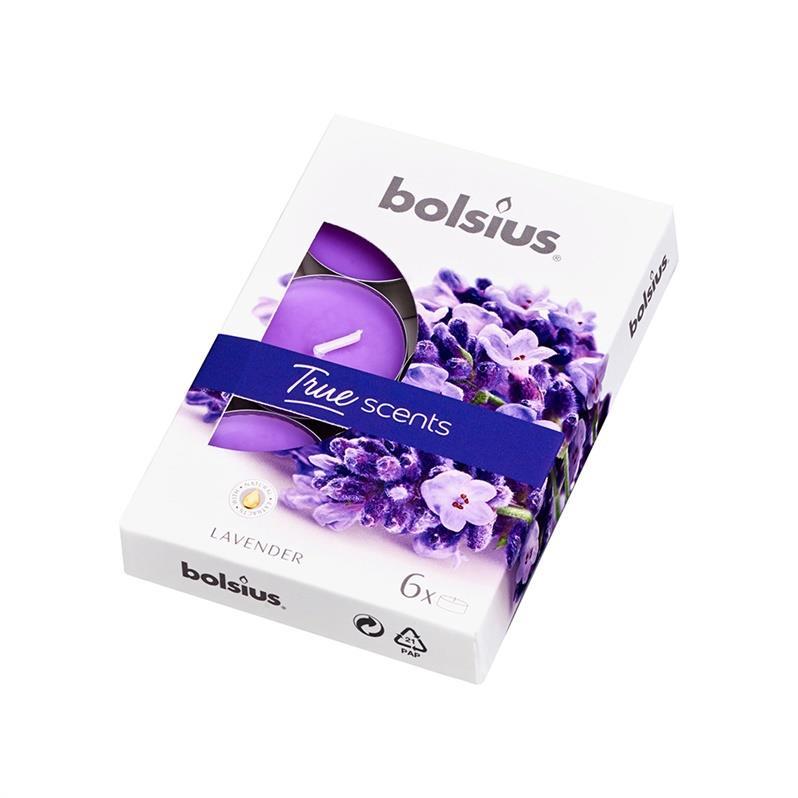 6x Duft Teelichter Lavendel Duftkerzen Kerzen Teelichte ,Bolsius,101926941577, 8717847137326